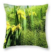 Flowers At Green Lake Throw Pillow