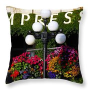 Flowers At The Empress Throw Pillow