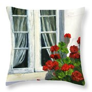 Flowers At The Window Throw Pillow