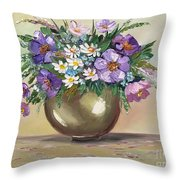 Flowers,still Life Throw Pillow