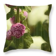 Flowers Behind The Screen Throw Pillow