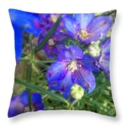 Flowers Blooming Throw Pillow
