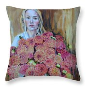 Flowers Didn't Fill Her Throw Pillow