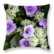 Flowers Etc Throw Pillow