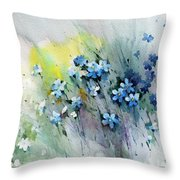 Flowers Fantasy Throw Pillow