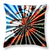 Flowers Fantasy Spin Throw Pillow