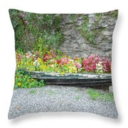 Flowers Floating Throw Pillow