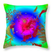 Flowers Flux Throw Pillow