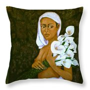 Flowers For An Old Love Throw Pillow