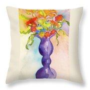 Flowers For Bobbie Throw Pillow