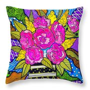 Flowers For Joujou Throw Pillow