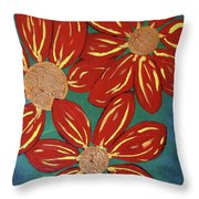 Flowers For M Throw Pillow