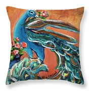 Flowers For Madame Throw Pillow by TM Gand