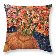 Flowers For Mary Throw Pillow