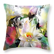 Flowers For My Friend Throw Pillow