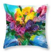 Flowers For My Jesus Throw Pillow