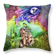 Flowers For Rosemary Throw Pillow