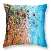 Flowers For The Bees Throw Pillow