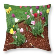 Flowers  For The Fallen But Not Lost Throw Pillow