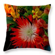 Flowers From Dad Throw Pillow