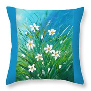 Flowers From Nature Throw Pillow