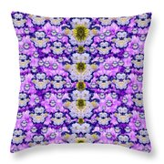 Flowers From Sky Bringing Love And Life Throw Pillow