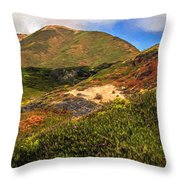 Flowers Growing Wild Throw Pillow