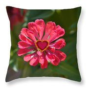 Flower's Heart Throw Pillow