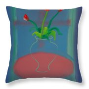 Flowers In A Bay Window Throw Pillow