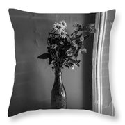 Flowers In A Peculiar Vase Throw Pillow