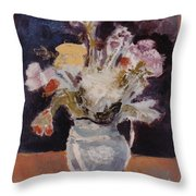 Flowers In A Pitcher Throw Pillow