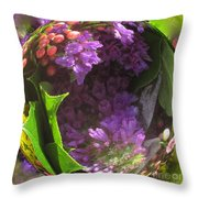 Flowers In A Raindrop Throw Pillow