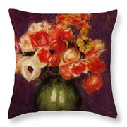 Flowers In A Vase 1901 Throw Pillow