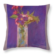 Flowers In A Vase After Manet Throw Pillow