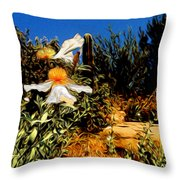 Flowers In Abstract 15 Throw Pillow