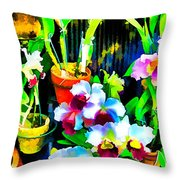 Flowers In Abstract 18 Throw Pillow
