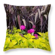 Flowers In Contrast Throw Pillow
