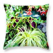 Flowers In Garden 3 Throw Pillow