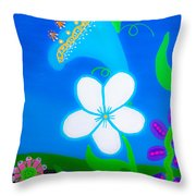 Flowers In Heaven Throw Pillow
