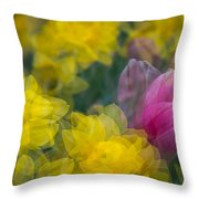 Flowers In Motion Throw Pillow