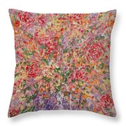 Flowers In Purple Vase. Throw Pillow