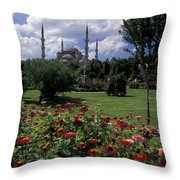 Flowers In Sultanahmet Square Throw Pillow