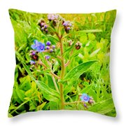 Flowers In The Garden Of Life Throw Pillow