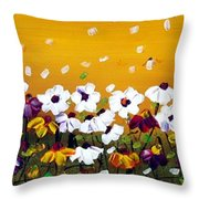 Flowers In The Sunset  Throw Pillow