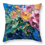 Flowers In The Water Throw Pillow
