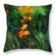 Flowers In The Woods At The Haciendia Throw Pillow