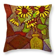 Flowers In Vase Altered Throw Pillow