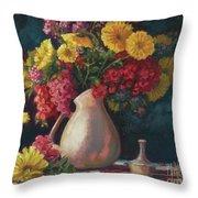 Flowers In Vase Throw Pillow