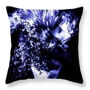 Flowers In Velvety Tones Throw Pillow