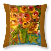 Flowers In Window Throw Pillow